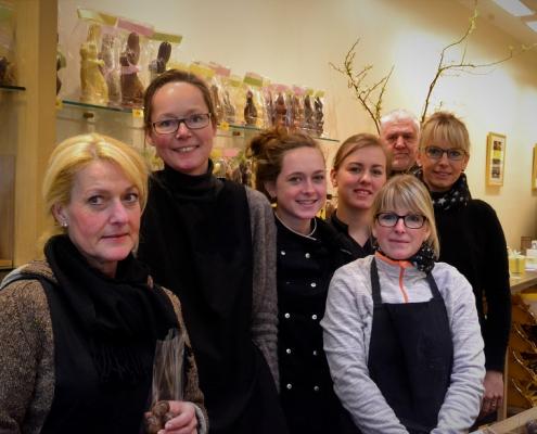 Equipe de la chocolaterie Franz